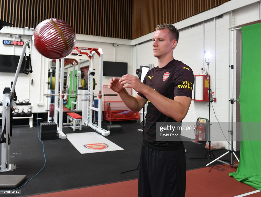 Arsenal new signing Bernd Leno at London Colney on June 19, 2018 in St Albans, England.