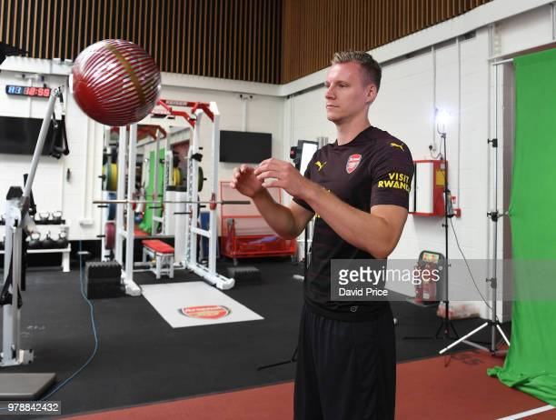 Arsenal new signing Bernd Leno at London Colney on June 19 2018 in St Albans England