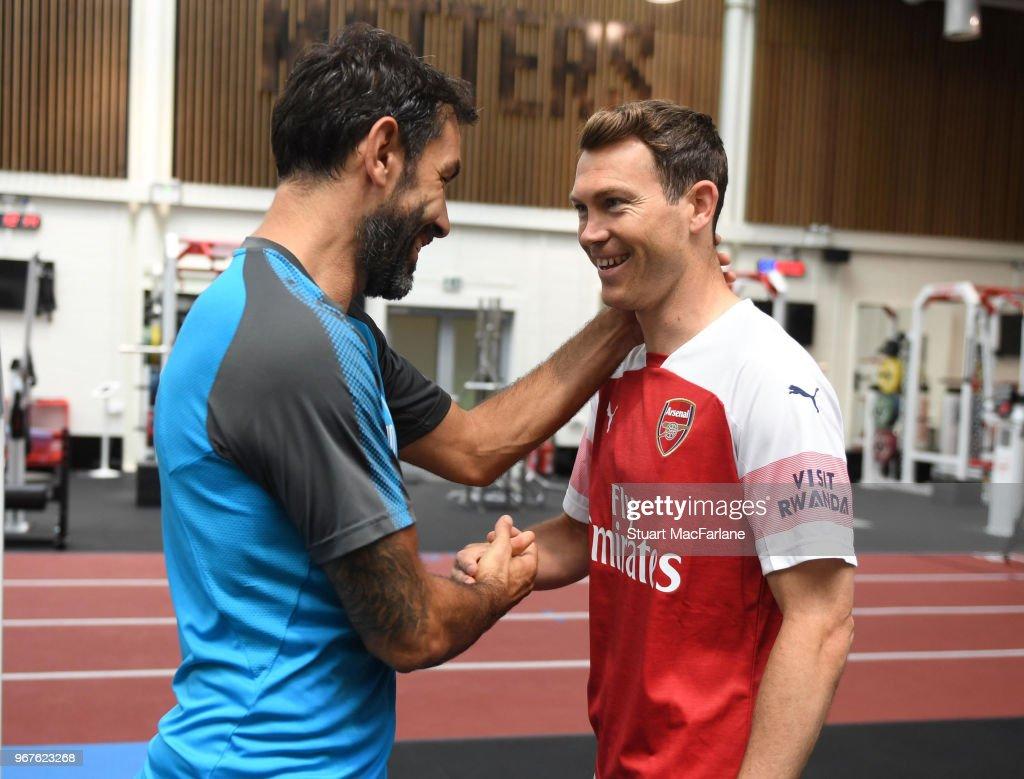 Arsenal Unveil New Signing Stephan Lichtsteiner : News Photo