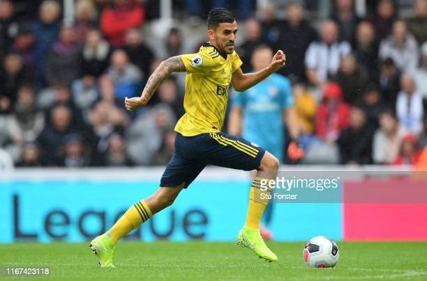 Arsenal player Dani Ceballos in action during the Premier League match between Newcastle United and Arsenal FC at St. James Park on August 11, 2019...