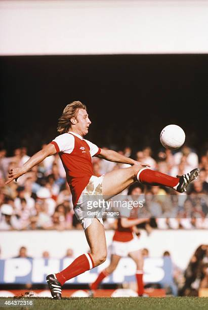 Arsenal player David Price in action during a game at Highbury circa 1979 Price played for the Gunners between 1973 and 1980
