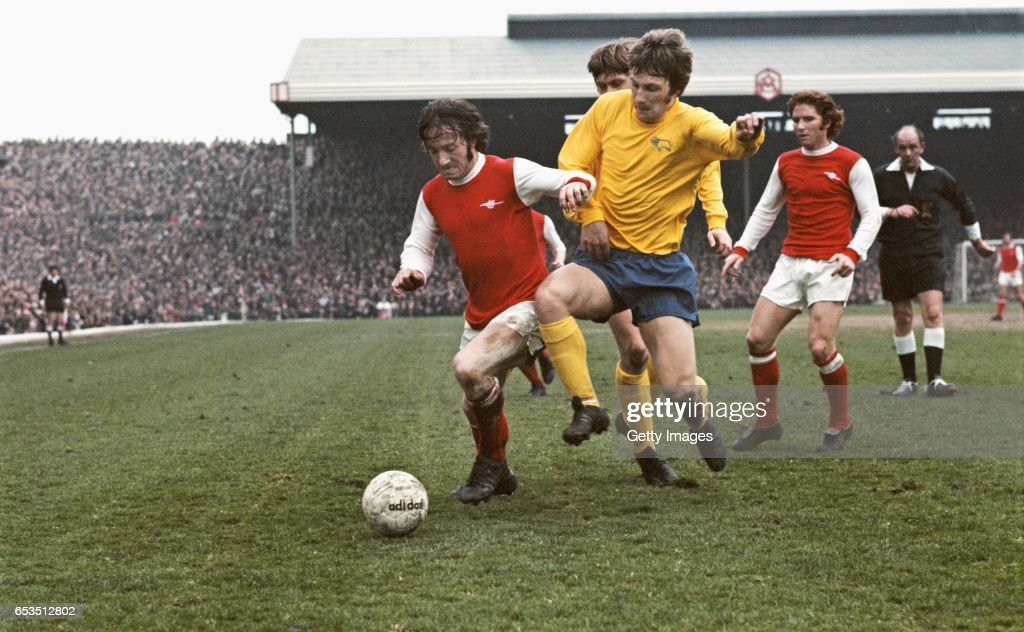 Arsenal v Derby County Division One 20 April 1974 : News Photo