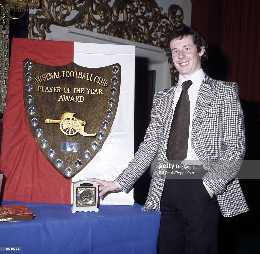 Liam Brady  -  Arsenal Player Of The Year : News Photo