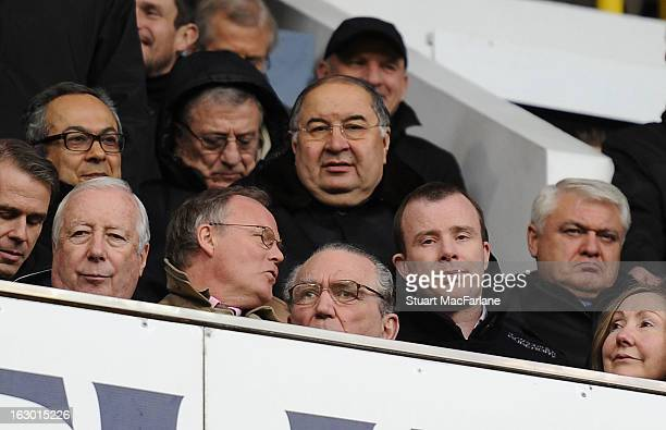 Arsenal shareholder Alisher Usmanov before the Barclays Premier League match between Tottenham Hotspur and Arsenal at White Hart Lane on February 01...