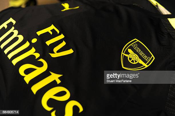 Arsenal shirt in the changing room before pre season friendly match between Arsenal and CD Guadalajara at StubHub Center on July 31 2016 in Carson...