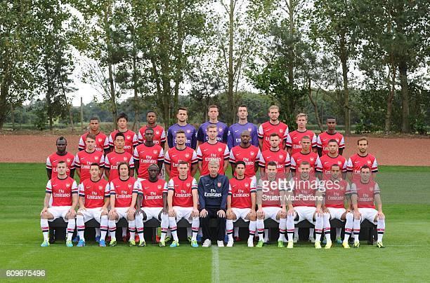 Arsenal Squad 2013/14 Back row Serge Gnabry Ryo Miyaichi Chuba Akpom Lukasz Fabianski Wojciech Szczesny Emiliano Viviano Nicklas Bendtner Nacho...