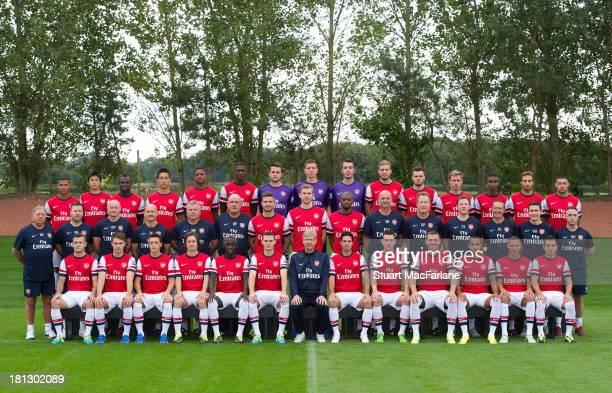 Arsenal Squad 2013/14 Back row Serge Gnabry Ryo Miyaichi Emmanuel Frimpong Ju Young Park Chuba Akpom Yaya Sanogo Lukasz Fabianski Wojciech Szczesny...