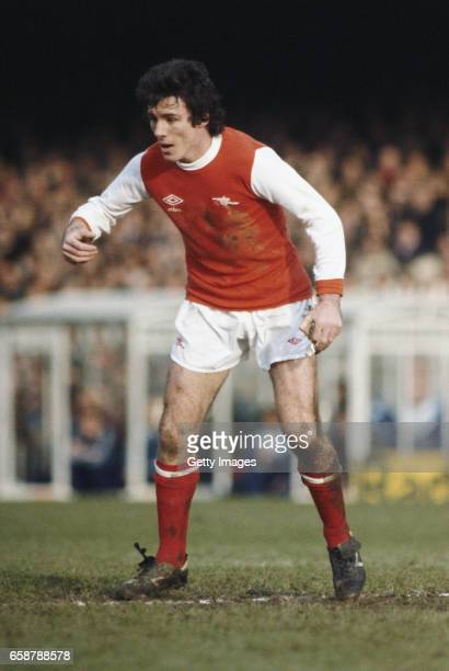 Arsenal striker Frank Stapleton in action during the League Division One match between Arsenal and Tottenham Hotspur at Highbury on December 26 1979...