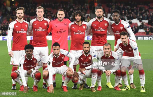 Arsenal Team shoot during UEFA Europa League Group H match between Arsenal and BATE Borisov at The Emirates London 7 Dec 2017