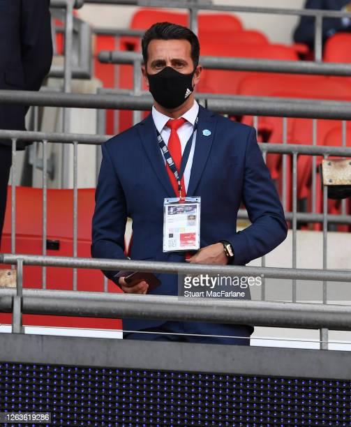 Arsenal Technical Director Edu before the FA Cup Final match between Arsenal and Chelsea at Wembley Stadium on August 01 2020 in London England...