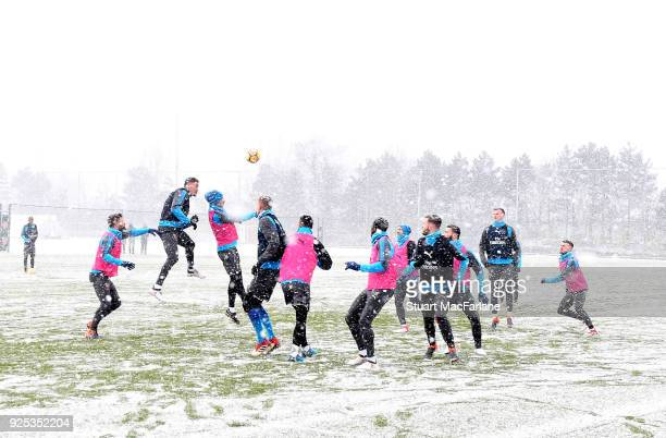 Arsenal training session at London Colney on February 28 2018 in St Albans England
