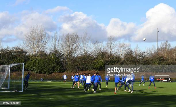 Arsenal training session at London Colney on January 22, 2021 in St Albans, England.