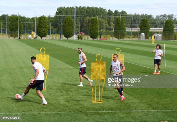 Arsenal training session at London Colney on May 26 2020 in St Albans England