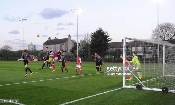 Arsenal U16 v Bayern Munich U16 The Liam Brady Cup at the Arsenal Academy on March 31 2017 in Walthamstow England