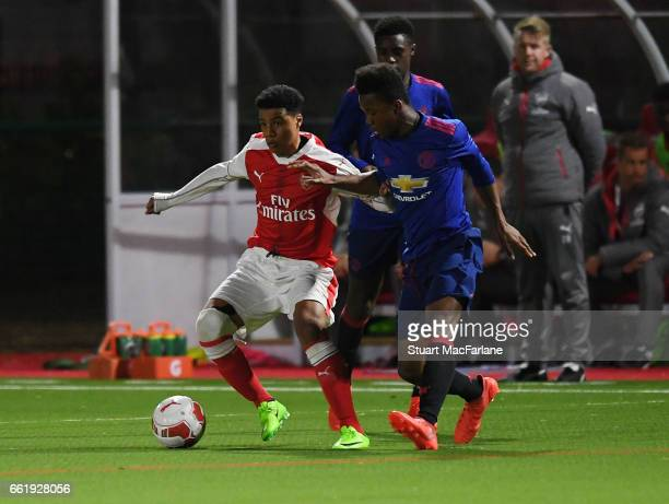 Arsenal U16 v Manchester United U16 The Liam Brady Cup at the Arsenal Academy on March 31 2017 in Walthamstow England