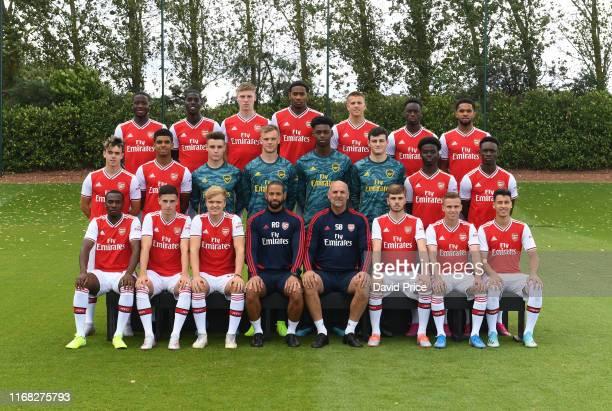 Arsenal U23 Squad Back row Joseph Olowu Tobi Omole Mark McGuinness Zech Medley Harry Clarke James Olayinka Trae Coyle Middle row Robbie Burton...