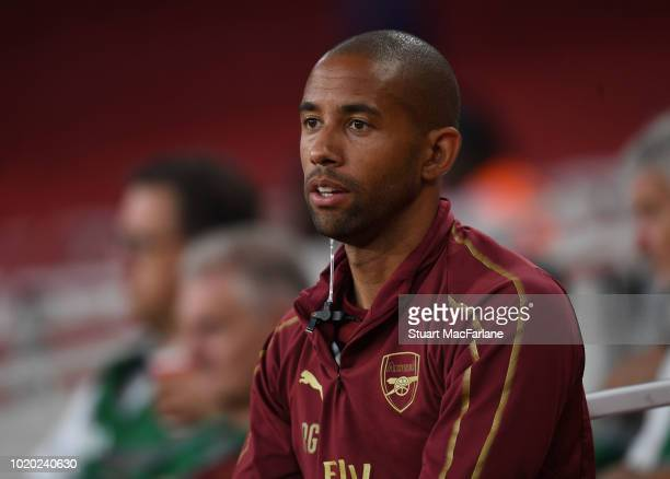 Arsenal Under 23 assistant coach Ryan Garry during the Premier League 2 match between Arsenal U23 and Brighton Hove Albion U23 at Emirates Stadium on...