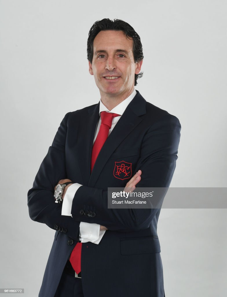 Arsenal Unveil New Head Coach Unai Emery at Emirates Stadium on May 23, 2018 in London, England.