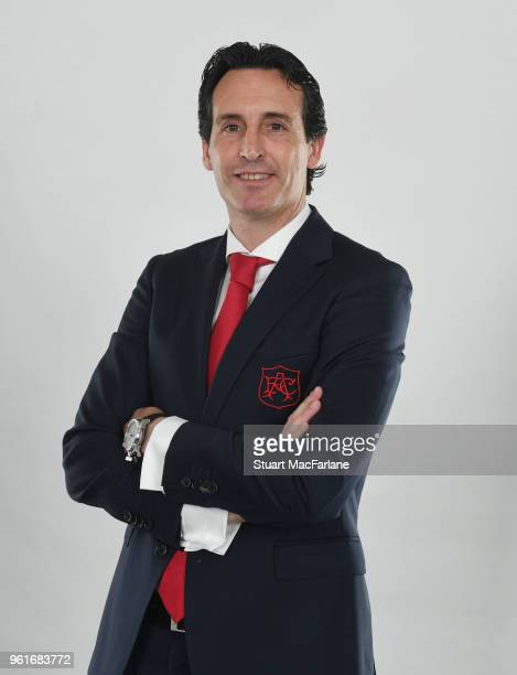 Arsenal Unveil New Head Coach Unai Emery at Emirates Stadium on May 23 2018 in London England