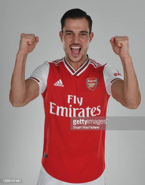 Arsenal unveil new signing Cedric Soares at London Colney on January 30 2020 in St Albans England