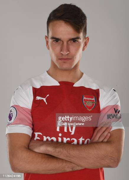 Arsenal unveil new signing Denis Suarez at London Colney on January 31 2019 in St Albans England