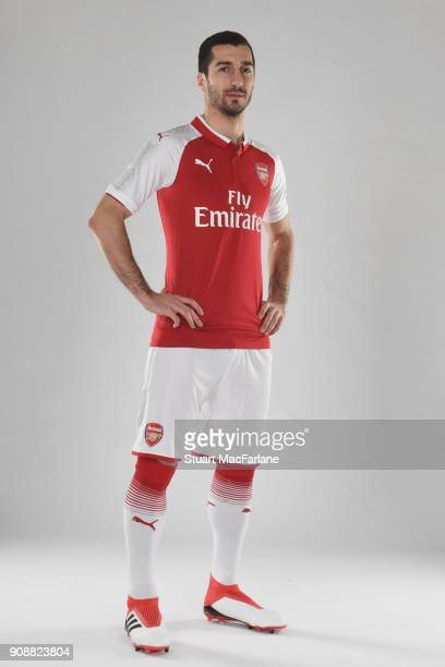 Arsenal Unveil New Signing Henrikh Mkhitaryan at London Colney on January 22 2018 in St Albans England