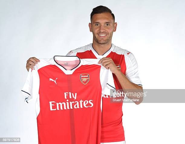Arsenal unveil new signing Lucas Perez at London Colney on August 28 2016 in St Albans England