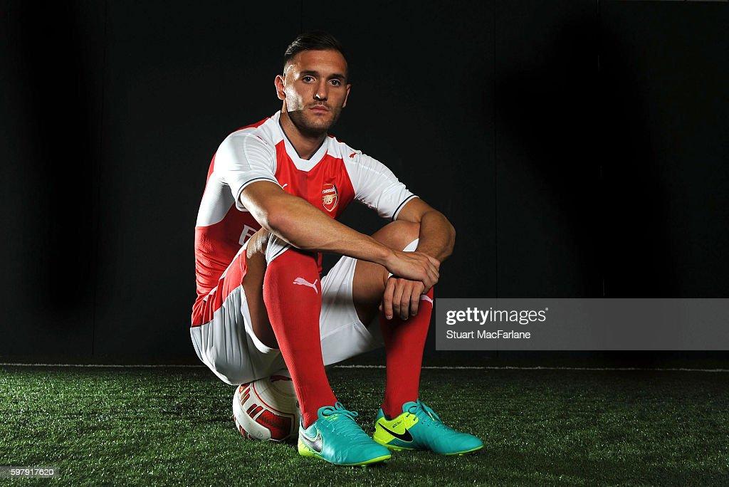 Arsenal Unveil New Signing Lucas Perez : News Photo