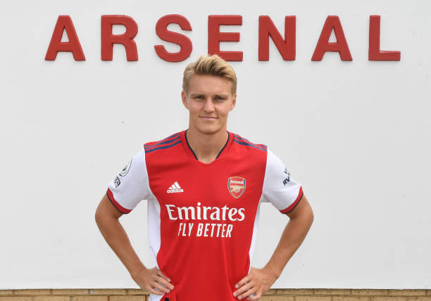 GBR: Arsenal Unveil New Signing Martin Odegaard
