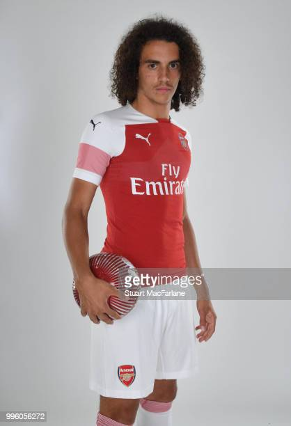 Arsenal unveil new signing Matteo Guendouzi at London Colney on July 11, 2018 in St Albans, England.