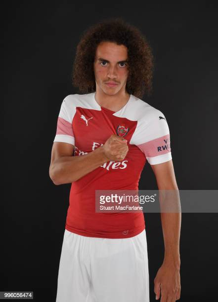 Arsenal unveil new signing Matteo Guendouzi at London Colney on July 11 2018 in St Albans England