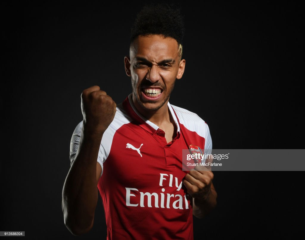 Arsenal Unveil New Signing Pierre-Emerick Aubameyang. : News Photo