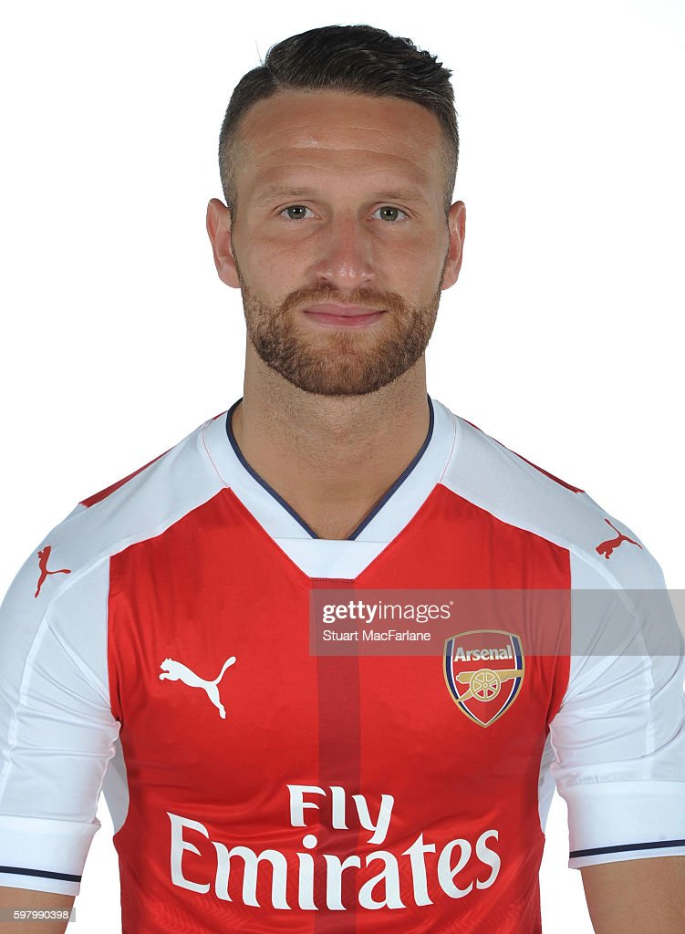 Arsenal Unveil New Signing Shkodran Mustafi : News Photo