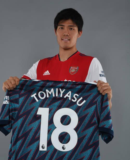 GBR: Arsenal Unveil New Signing Takehiro Tomiyasu