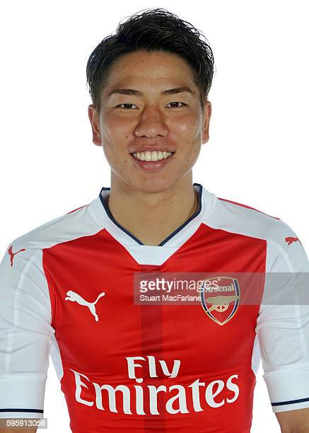 Arsenal Unveil New Signing Takuma Asano at London Colney on July 19 2016 in St Albans England