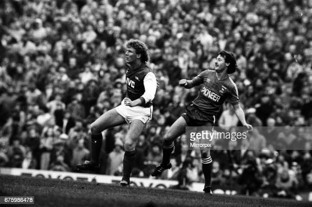 Arsenal v Ipswich Town league match at Highbury March 1984 Final score Arsenal 41 Ipswich Town