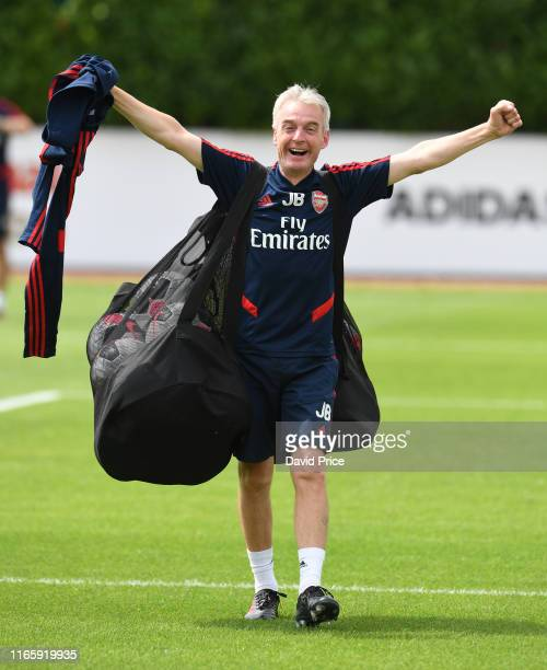Arsenal Youth Kitman John Boca the match between Arsenal U23 and Watford XI at London Colney on August 03 2019 in St Albans England