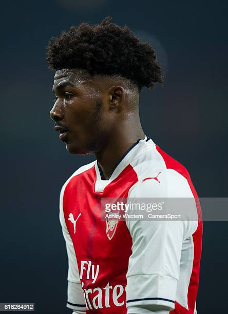Arsenal's Ainsley MaitlandNiles during the EFL Cup 4th Round match between Arsenal and Reading at Emirates Stadium on October 25 2016 in London...