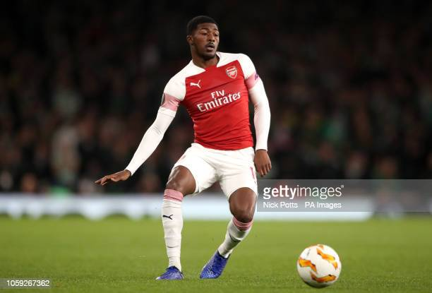 Arsenal's Ainsley MaitlandNiles during the UEFA Europa League Group E match at the Emirates Stadium London PRESS ASSOCIATION Photo Picture date...