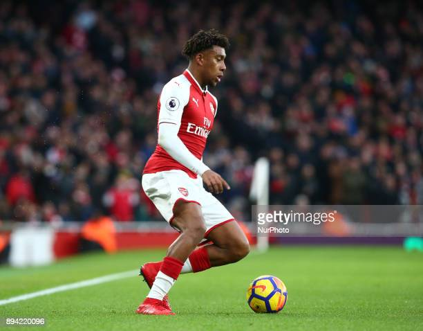 Arsenal's Alex Iwobi during Premier League match between Arsenal and Newcastle United at The Emirates London 16 Dec 2017