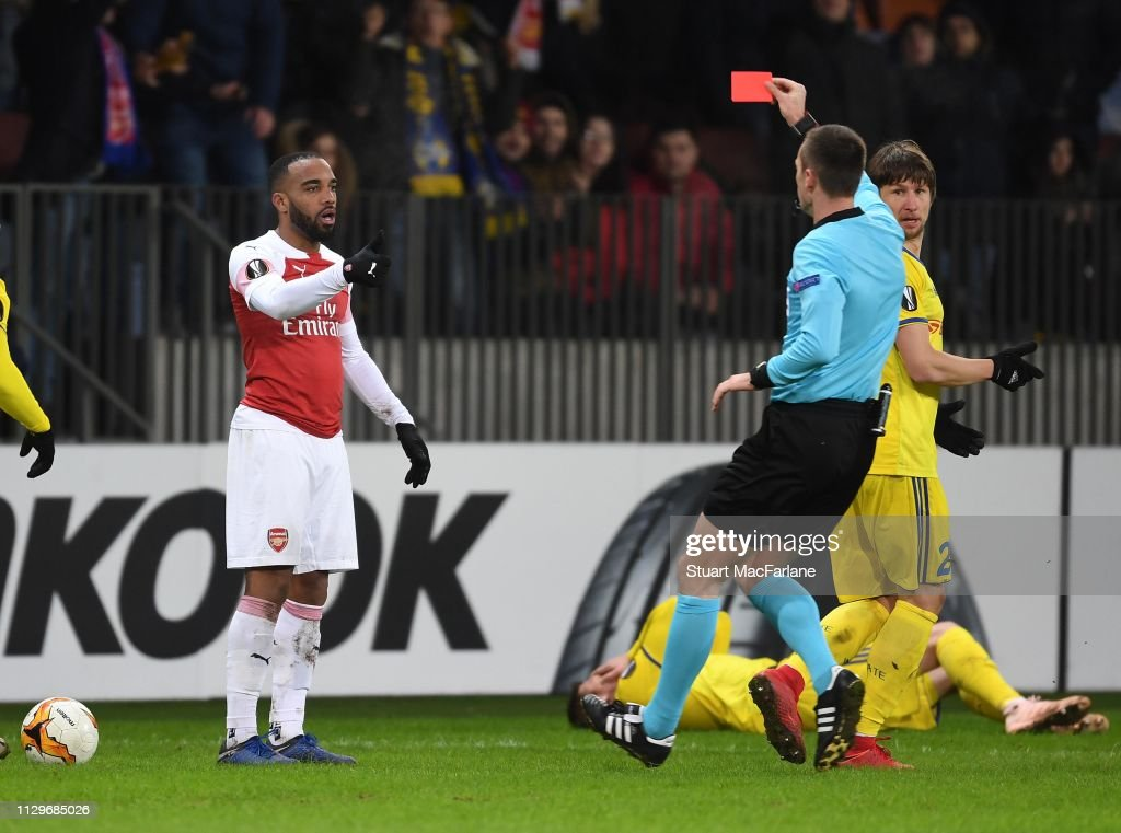 BATE Borisov v Arsenal - UEFA Europa League Round of 32: First Leg : News Photo