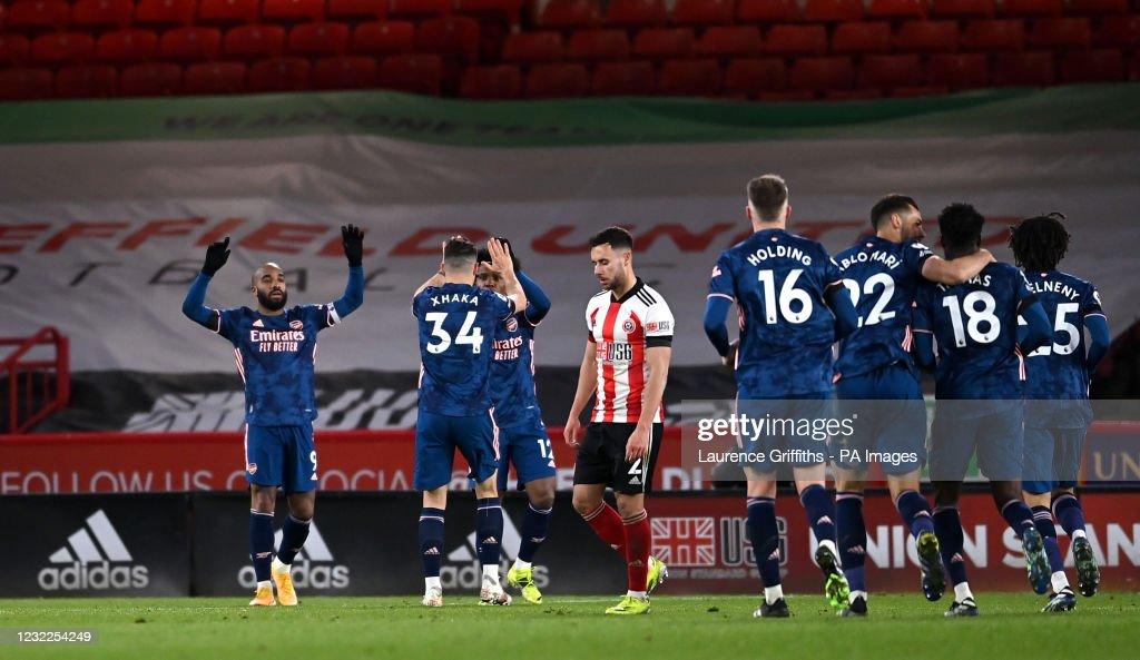 Sheffield United v Arsenal - Premier League - Bramall Lane : Nieuwsfoto's