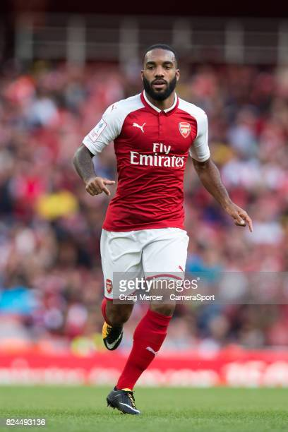Arsenal's Alexandre Lacazette during the Emirates Cup match between Arsenal and Sevilla FC at Emirates Stadium on July 30 2017 in London England
