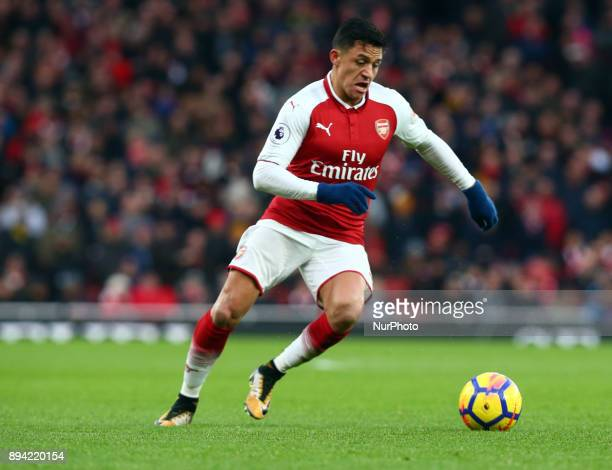 Arsenal's Alexis Sanchez during Premier League match between Arsenal and Newcastle United at The Emirates London 16 Dec 2017