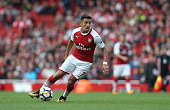 london england arsenals alexis sanchez during
