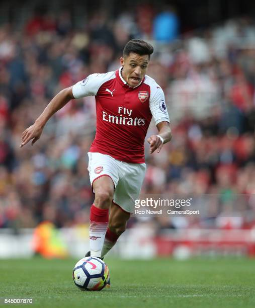 Arsenal's Alexis Sanchez during the Premier League match between Arsenal and AFC Bournemouth at Emirates Stadium on September 9 2017 in London England