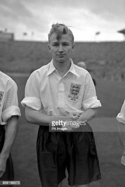 Arsenal's Arthur Milton wearing his England shirt when he played his first international against Austria at Wembley Stadium
