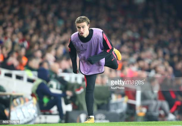 Arsenal's Ben Sheaf during UEFA Europa League Group H match between Arsenal and Red Star Belgrade at The Emirates London 2 Nov 2017
