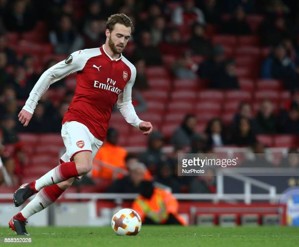 Arsenal's Calum Chambers during UEFA Europa League Group H match between Arsenal and BATE Borisov at The Emirates London 7 Dec 2017