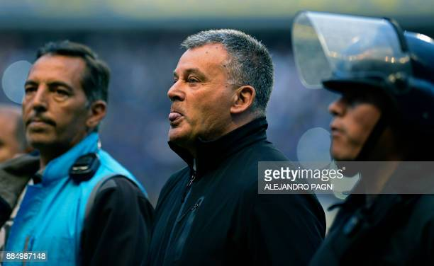 Arsenal's coach Humberto Grondona son of the former president of the Argentine Football Association and vice president of FIFA Julio Grondona...
